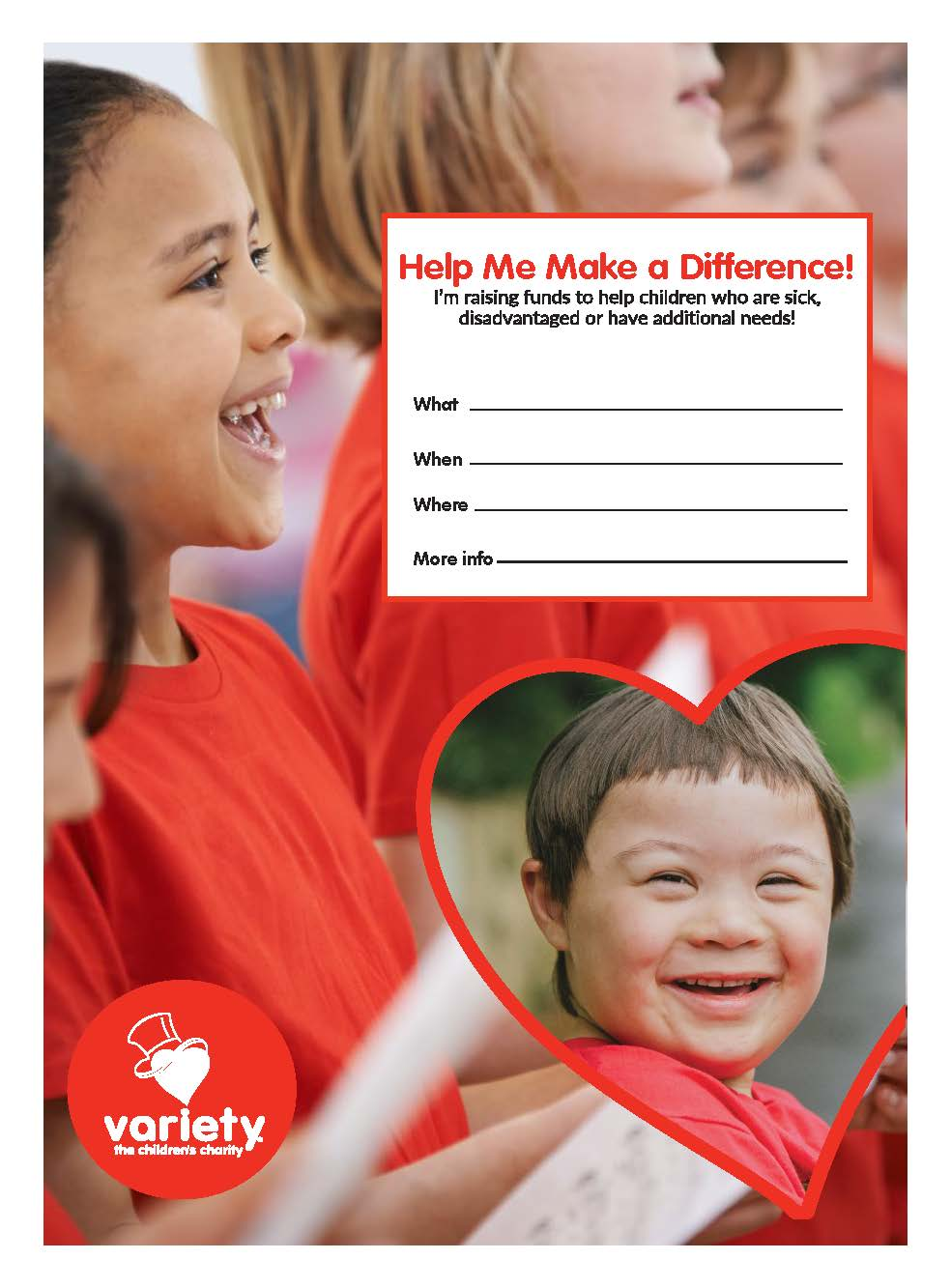 Variety Tas Poster - Help me make a difference